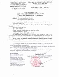 Công bố thông tin ( TB mời tham dự ĐHĐCĐ thường niên 2019, tài liệu họp cổ đông )